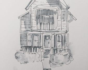Custom home illustrations
