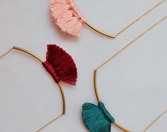 Avery Tassel Necklace in Deep Shades