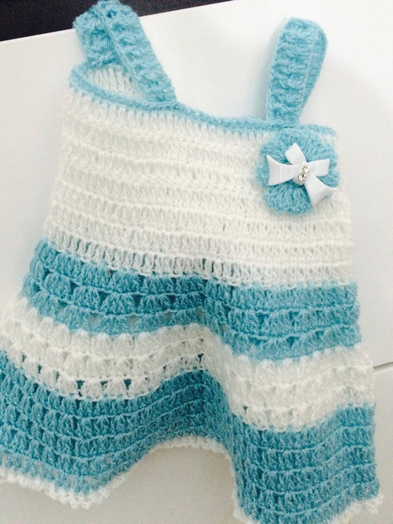 Newborn Girl In blue And White, Crochet Baby Dress , crochet baby outfit , photo prop clothes, crochet newborn dress, blue newborn dress,