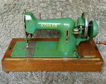 FREE Shipping* | Köhler Antique Sewing Machine | Made in Altenburg | Germany 1950 | Antike Nähmaschine | Macchina per Cucire Antica