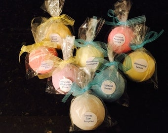 Large Bath Bombs Variety Pack including 8-24 Handmade Bath Bombs with 100% Pure Essential Oil- 5 oz Bulk orders 8-24 Large Bath Bombs~