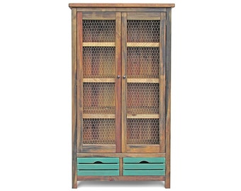 Bookcase, Farmhouse, Display Cabinet, China Cupboard, Book Shelves, Reclaimed Wood, Handmade, Rustic