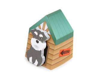 Schnauzer Puppy Sticky Notes // Ruki Schnauzer Dog Post-It Page Flags // Schnauzer Bookmark // Schnauzer Stationery