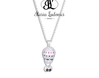 Hot air balloon necklace occhioni