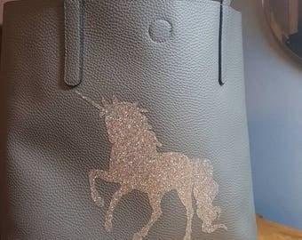 Glitter Unicorn Tote Bag