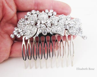 Rhinestone and Crystal Wedding Hair Comb, Sparkly Hair Jewellery for Wedding, Bridal Hair Comb, Silver Crystal Hair Comb,