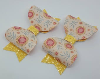 Large Yellow and Sunflower Bow