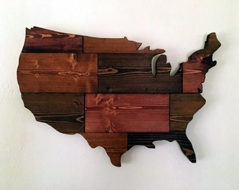 United State Wooden Cutout