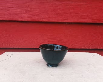 Tiny Black Tenmoku Bowl