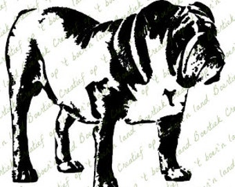 SVG/Studio file, English Bulldog, dog, cutting file