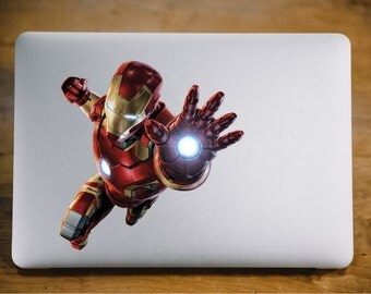 Iron Man Marvel Studios MacBook Decal For Macbook Air Pro MacBook Cover Decal Vinyl Sticker Skin Decal Laptop Sticker Macbook Decal 035