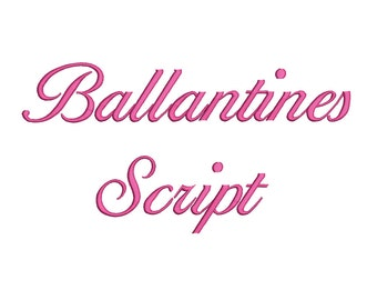 4 Size Ballantines Script Font Embroidery Fonts BX  9 Formats Embroidery Pattern Machine BX Embroidery Fonts PES