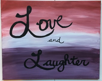 "Custom Cursive Canvas Painting 16""x20"""