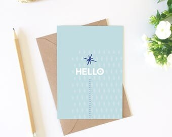 Post card, Hello greeting, post card, decorating idea, friendship card, card good luck, inspiration, stationery, summer