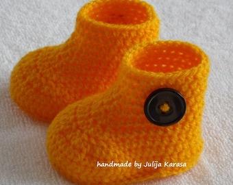 Crochet baby booties, handmade boots, shower gift booties, baby boots crochet, girls baby boots, newborn booties, booty boots, baby socks