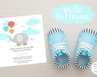 Printable Baptism/Christening Set Baby Invitation