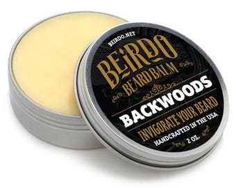 Beard Balm / Backwoods / beard oil / essential oils / manly scent / beard care / gifts for men / gifts for him / mens grooming / Beirdo