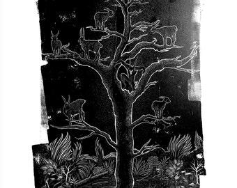A3 Bad Fruit Tree Giclée print on 255gsm fine art paper