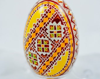 Pysanky - handmade goose egg - Easter egg in batik technique made by Tetyana Bastick