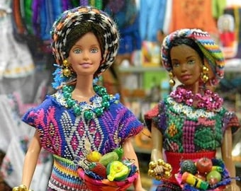 dolls Barbie dolls in traditional costumes of guatemala