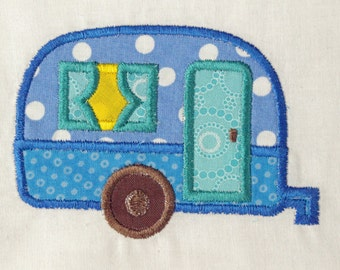Camper Patch, Camper Applique, Embroidered Camper, Iron On Patch, Applique Patch, Embroidered Trailer Patch, Camper Trailer Patch, Sew On