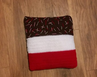 Fab Ice lolly cushion hand crochet