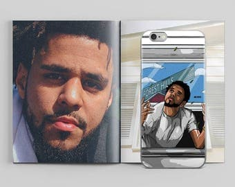 J. Cole Forest Hills iPhone Case by AKARTS