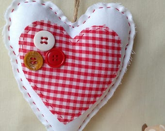 Hanging felt heart, Decoration, Gift, Home deco,