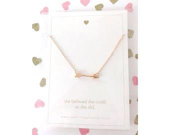 Cupid's Arrow Necklace - Gold
