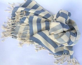 TURKISH TOWEL- Striped Pestemal, Peshtamal, Turkish Bath, Beach Towel, Yoga Towel, Baby Blanket, Sarong, Fouta …