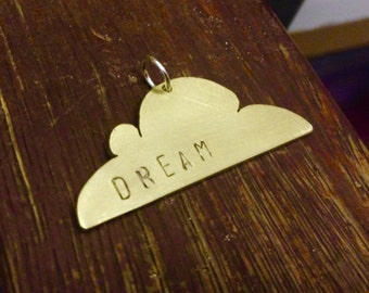 Dream cloud brass pendant