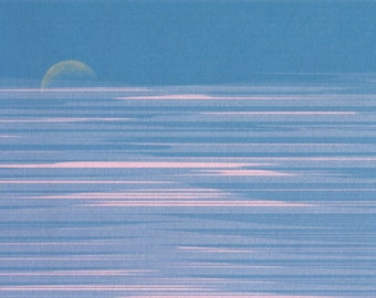 Moon Glitch - postcard print