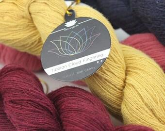 YARN- 2 skeins/lot 100% Tibetan yak fingering weight hand knitting yarn High quality and very soft (Lotus -Yarn)