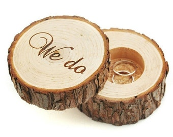 "1 PC ""We Do"" Wedding Ring Box, Rustic Ring Box, Wood Ring Box, Wooden Ring Box, Ring Box, Rustic Wedding, Wedding, Wedding Ring Holder"