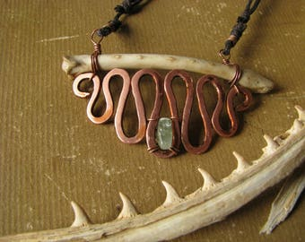 Copper and Bone Necklace
