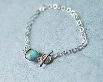 Bracelet labradorite and silver