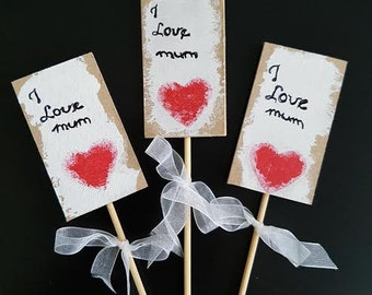 I love Mum toppers / Mother's Day gift / Gift