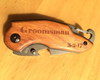 Pocket Knife The Gift for Groomsmen Carving Knife Pocket knife for Men