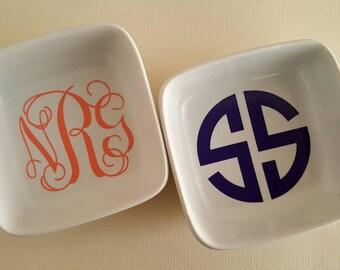 Monogram jewelry dishes