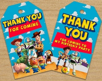 Toy Story Thank You Tags, Toy Story Tags, Toy Story Printable Tags, Toy Story Supplies, Toy Story Birthday Labels, Toy Story Tags