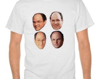 George Costanza faces  Seinfeld Tshirt shirt