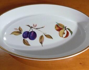 "Royal Worcester Evesham Gold Oval Baking Dish 12.5"""