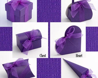 Purple Wedding Favours, Silk Favor Boxes, Purple Theme, Square Purple Box, Favour Gift Box, Small Wedding Box, Purple Candy Box, Table Decor