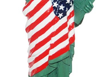 Statue of Liberty Wrapped in USA Flag