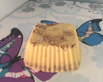 Honey & Almond SLS free exfoliating handmade soap bar