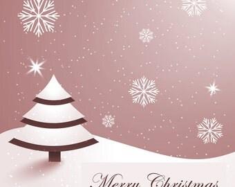 Merry Christmas Card - Printable or Web Banner