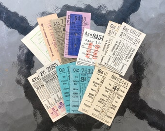13 Mixed Vintage Ephemera Tickets