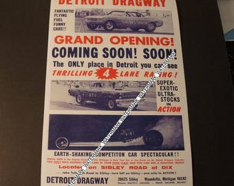 Detroit Dragway® Poster  Grand Opening Coming Soon! Soon!