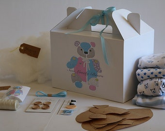 Keepsake Bear Kit, Sew Lovely Bears, Memory bear Kit, DIY sewing kit, make your own keepsake, baby shower gift, new mum gift, first birthday