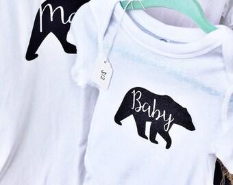 Baby Bear Shirt, baby bear top, baby bear tshirt, baby bear onsie, baby bear bodysuit, baby bear t-shirt, baby bear clothes, mama bear
